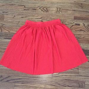 Orange Pleated H&M Skirt